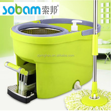 360 degree magic mop and spin dry bucket with 2 mop head