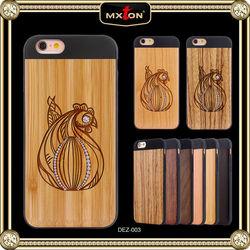 Diamond Setting Bamboo Led Light Luminous Case Cover For Iphone 5 5S