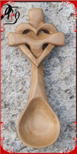 Burlywood Wooden Heart Shaped Measuring Spoons