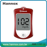 Q-chcek Glucometer / blood sugar testing equipment with CE FDA GMP certificate
