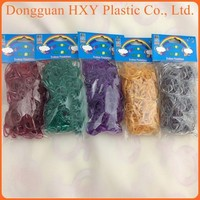 HXY cheap loom bands 4200/gold rainbow bands/rainbow color loom refills bands 12000