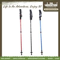 True Adventure TB2-003 Three Sections Light Weight blind People walking stick Carbon Fiber Trekking Pole