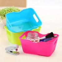 Candy Colour Plastic Mini Table Container , Storage Box