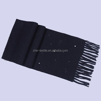 100% cashmere children scarf with bowknot crystal sequins
