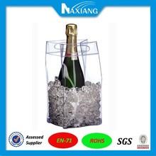 2015 China Eco-friendly waterproof pvc wine ice bag /wine cooler bag