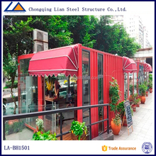 2015 business container house for shopping store