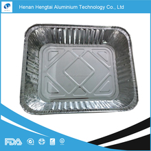 disposable rectangle aluminium foil container with lid with FDA, SGS, HACCP, KOSHER certificate popular in USA