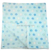 30x30 Inch Coral Fleece Dress Baby Blanket - Assorted Colors Baby Cribs Polka Dot Blankets