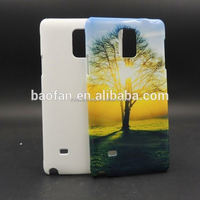 New arrive 3D sublimation blank phone case for samsung note4