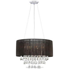 chandelier wire hanging lamp Fabric shape crystal black lighting Model : A2114