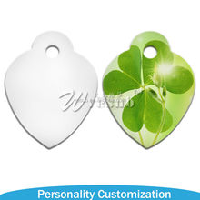 2015 New arrive Photo Printable Sublimation Blank Coated cheap dog tags