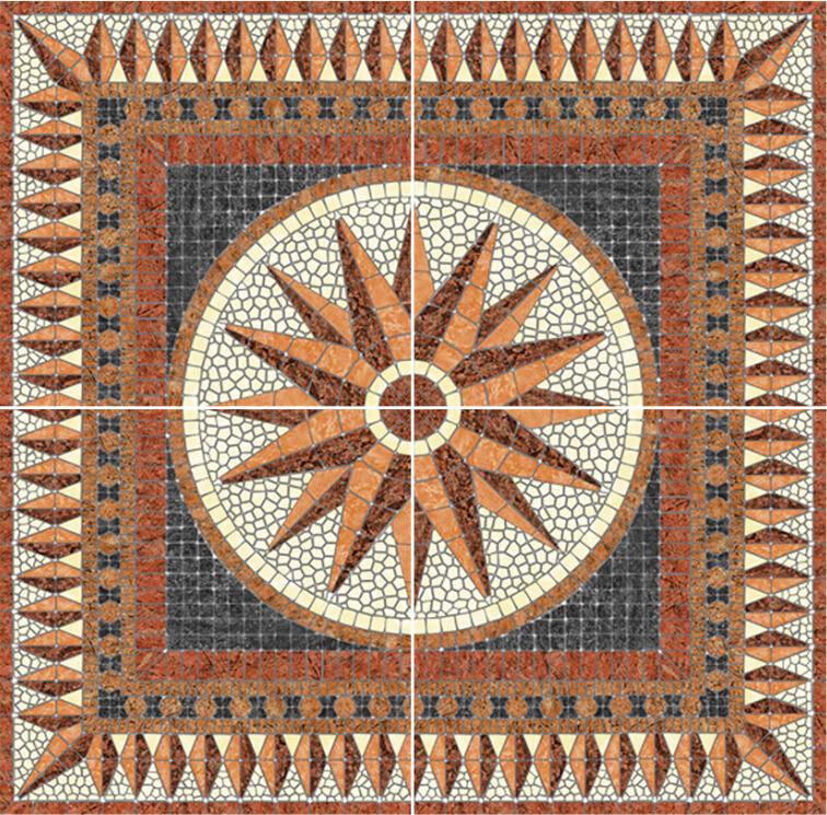 카펫 디자인 타일, 스타 디자인 도자기 타일, 광장 바닥 타일 ...