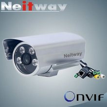 H.264 Onvif 720P Ourdoor Camea Ip with 4 Array Led