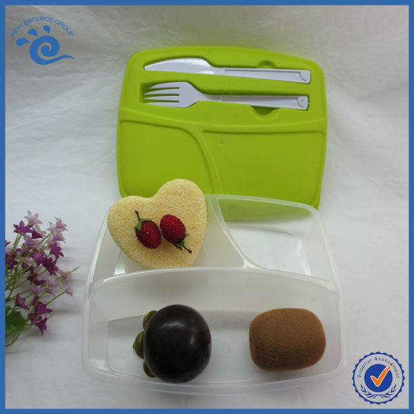 wholesale 3 compartment bento lunch box with cutlery set buy lunch box with cutlery set 3. Black Bedroom Furniture Sets. Home Design Ideas