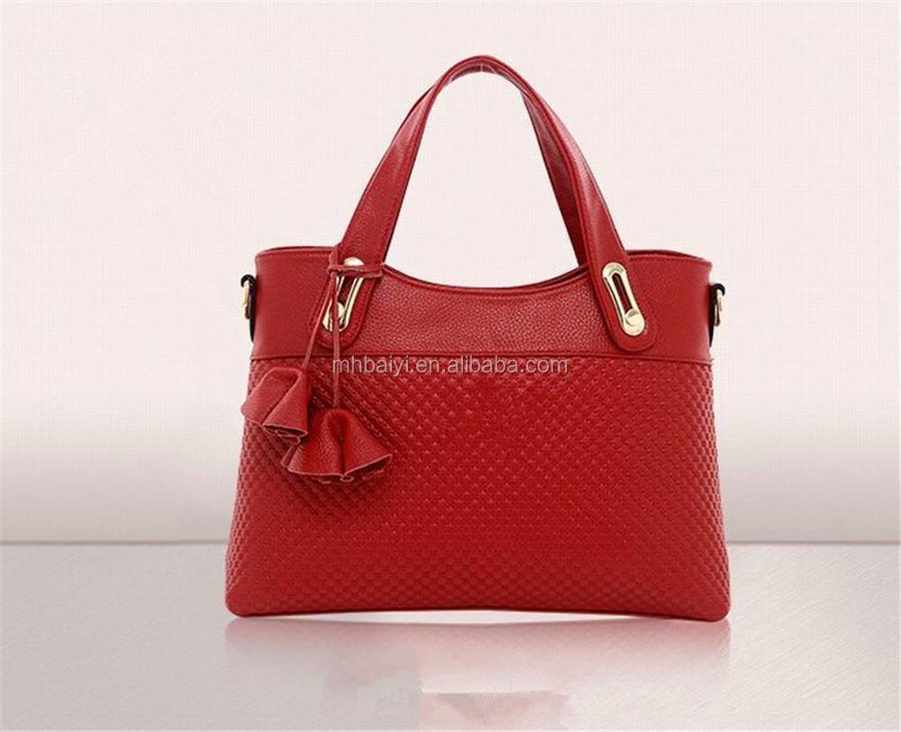 Model Beautiful Design Women Handbags Made Of Genuine Leather 2015 Hand Bags