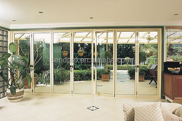 Guangzhou usine de porte double vitrage aluminium pliante for Porte pliante exterieur