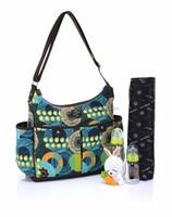 Litchi Flower Pattern Polyester Changing Bag