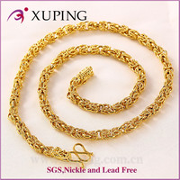 Wholesale 24k gold color jewelry latest model fashion necklace