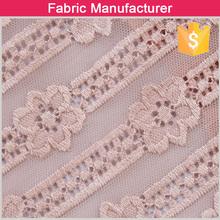 Ruiva guarnição do laço design meninas vestido de tomada de tecido n / sp 90/10 laço cor de rosa