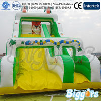 Jungle Theme With Tiger And Snake Inflatable Slides Outdoor Commercial Rental