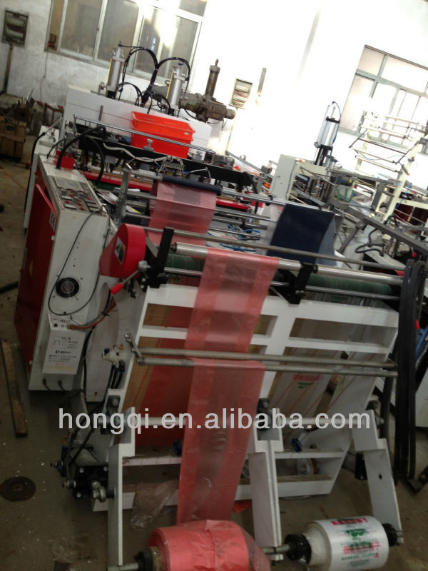 automatic High speed PE biodegradable plastic carry Bag t-shirt bag making machine