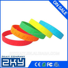 Fashion custom silicon bangle for promotion gift