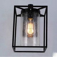Vintage Industrial Brass Indoor Wall Lamp Glass Wall Lamp