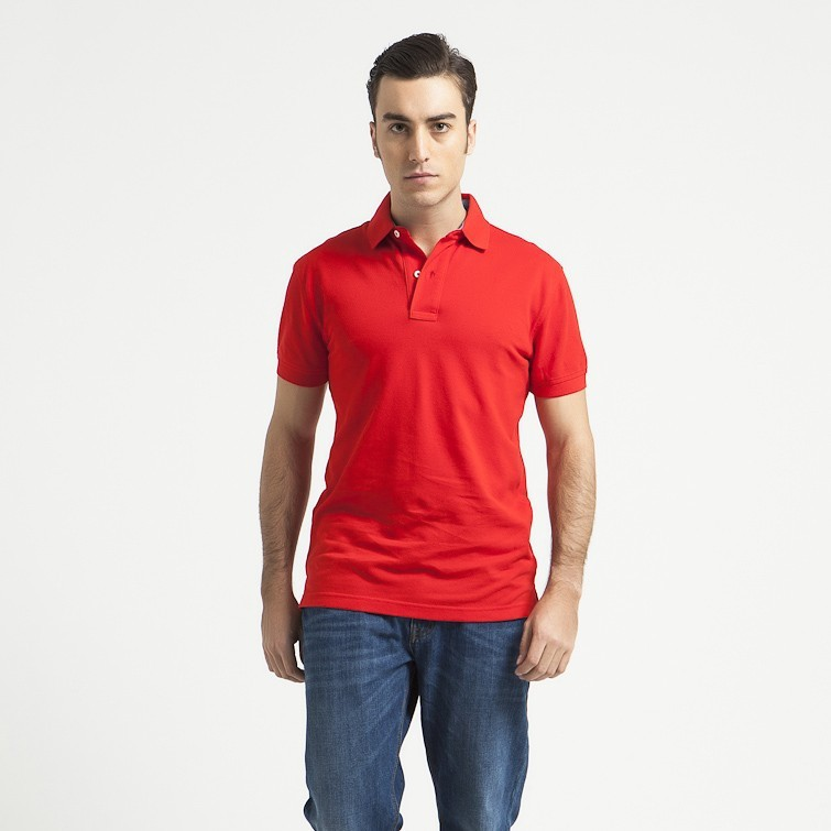 Red blank polo shirt 100 cotton polo shirt cheap wholesale for Buy wholesale polo shirts