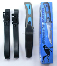 scuba diver's diving knife with leg strap sheath