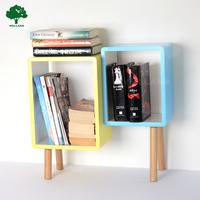 Wooden cube rack Storage shelf, side table design J