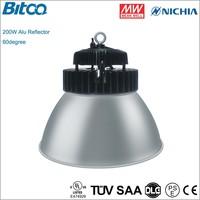 200W ip65 led high bay light 20000lm ve may bay gia re Nichia chip hot swap bay