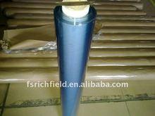 super clear transparent film/sheet/roll soft flexible palin blue