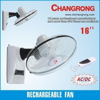 ac/dc wall hanging fan with remote control