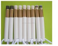Zealhoney Cosmetics Hot Sale Brand New Nasal Brush Make-up Tool Wood Handle Nose Brush Cleaning Brushes Portable with Nylon Hair