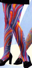 40D Adult rhythm tights, paper printing whirlpool