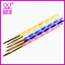 Nylon Hair acrylic Brush plastic Handle Brush Nail Tips Brush for Nail tips