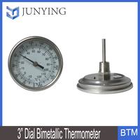 3' dial Bimetallic Thermometer