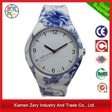 R0744 strap changeable oem jelly watches fashion, colorful water transfer printing oem jelly watches