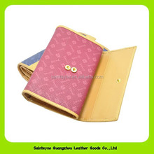 14335 Design beauty ladies leather wallet with change purse