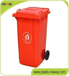 Eco-Friendly Stocked 240L outdoor plastic waste bin from professional manufacture