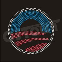 Obama campaign logo heat fix rhinestone motif