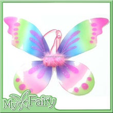 FW-13 2015 New fashion Rainbow Color Party fancy Butterfly Wings for Kids Glitter Fairy Wings for Girls