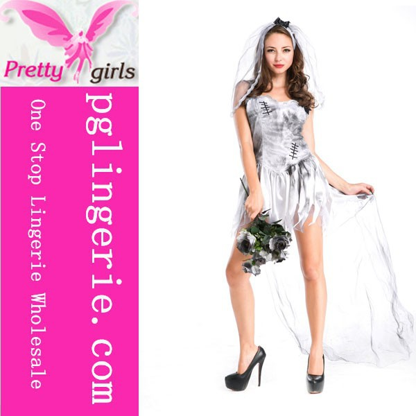 Wedding gown girls costumes for adult adult sexy wedding for Sexy wedding dress costume