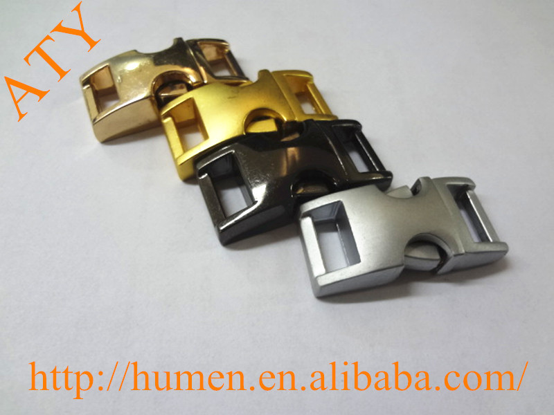 curved metal quick release buckle for pet collars