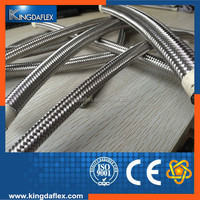 2 Wire Braided Smooth Bore or Convoluted Teflon PTFE Hose/SS304 Braided Teflon PTFE Hose