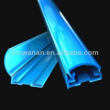 azul pvc plegable publicidad del cartel <span class=keywords><strong>de</strong></span> medio círculo <span class=keywords><strong>de</strong></span> plástico colgar la bandera <span class=keywords><strong>de</strong></span> perfil