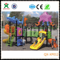 Top quality plastic slide tree house, used kids outdoor toys, kids play items/ XP-012