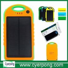 Solar Charger Dual USB 5000mah 6000mah 8000mah 10000mah 12000ma Waterproof Portable Mobile Solar Charger Power Bank Silicone ABS