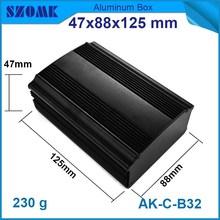 fashon design anodizing and polishing Black aluminum box module for electronics device and pcb broad