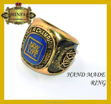 High quality china factory 3D emblem cheap fashion style POP jeweleryy design accessories ring